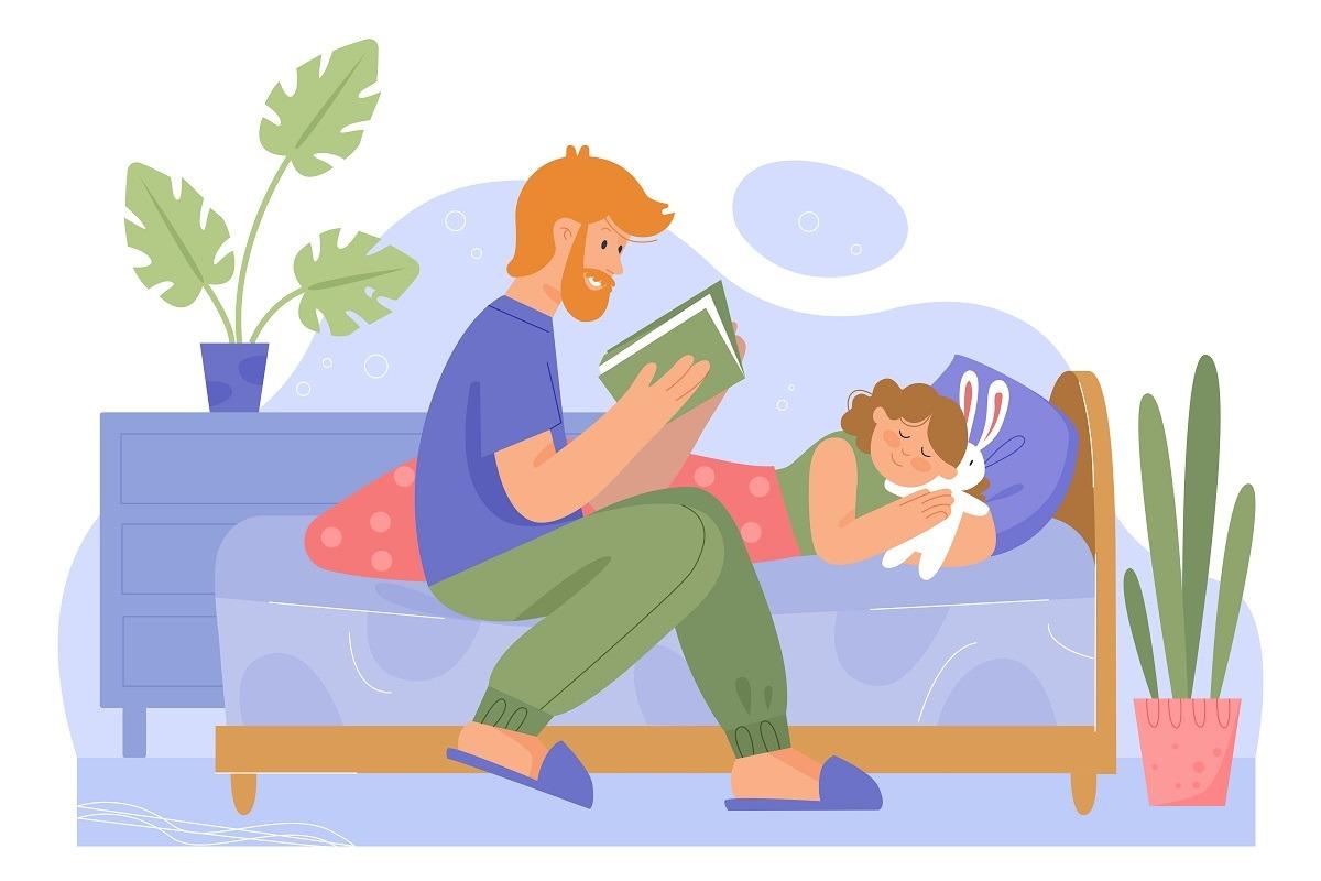 Rituel du coucher père fille