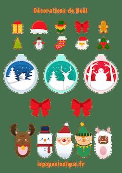 Decorations Noel A Imprimer Vignette