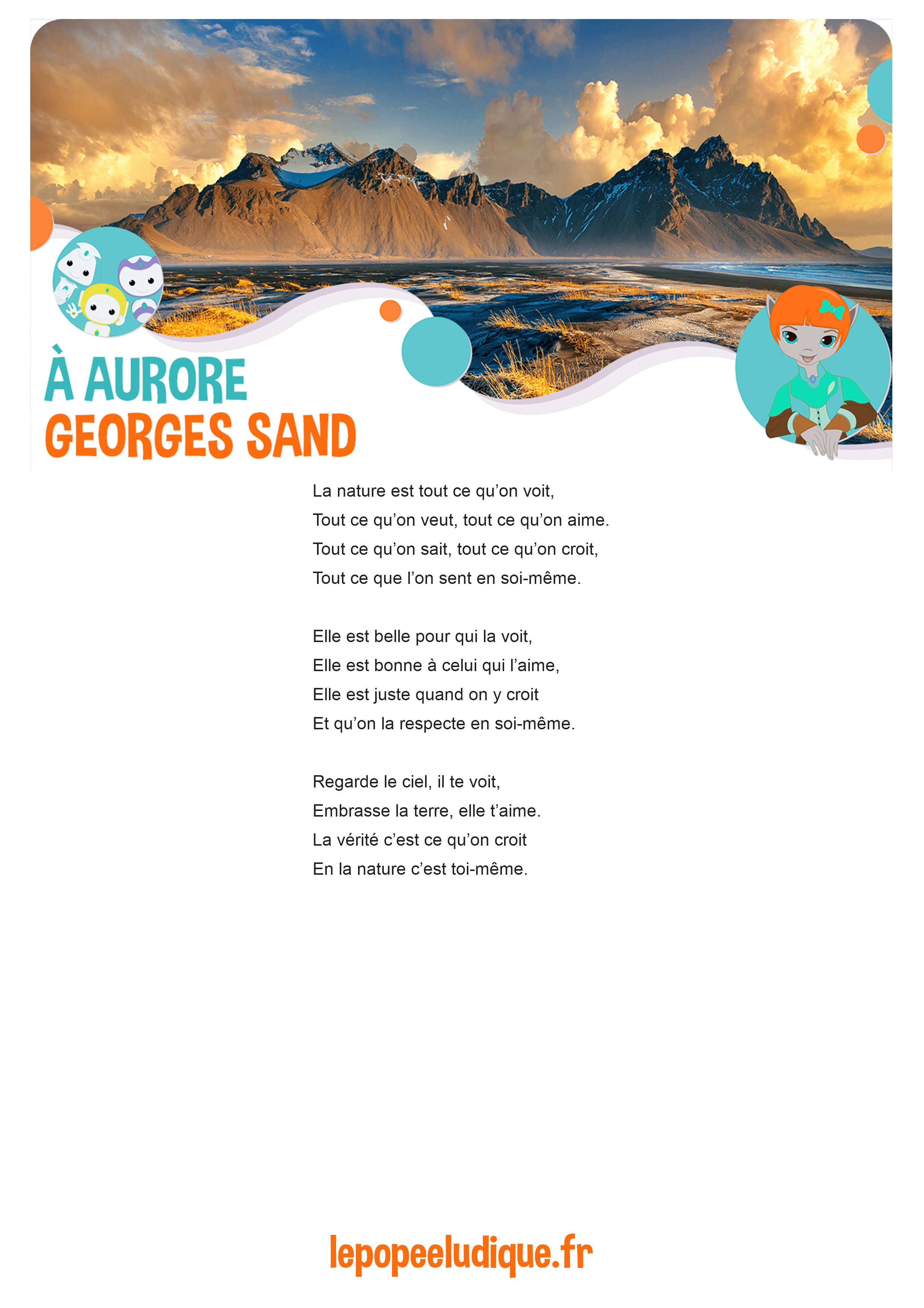 Poeme A Aurore Georges Sand