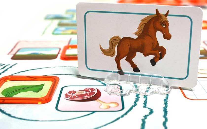 Concept kids animaux - Carte avec support