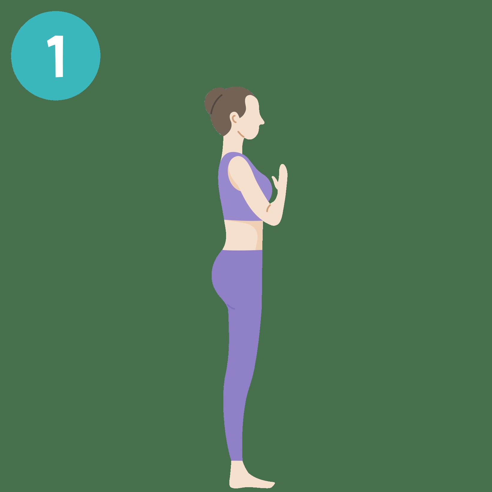 Yoga - Salutation au soleil - posture 1