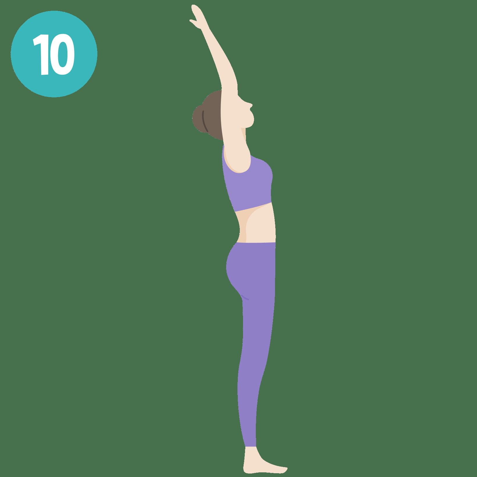 Yoga - Salutation au soleil - posture 10