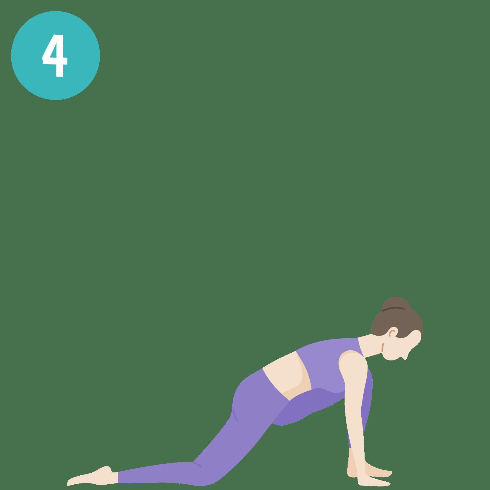 Yoga - Salutation au soleil - posture 4