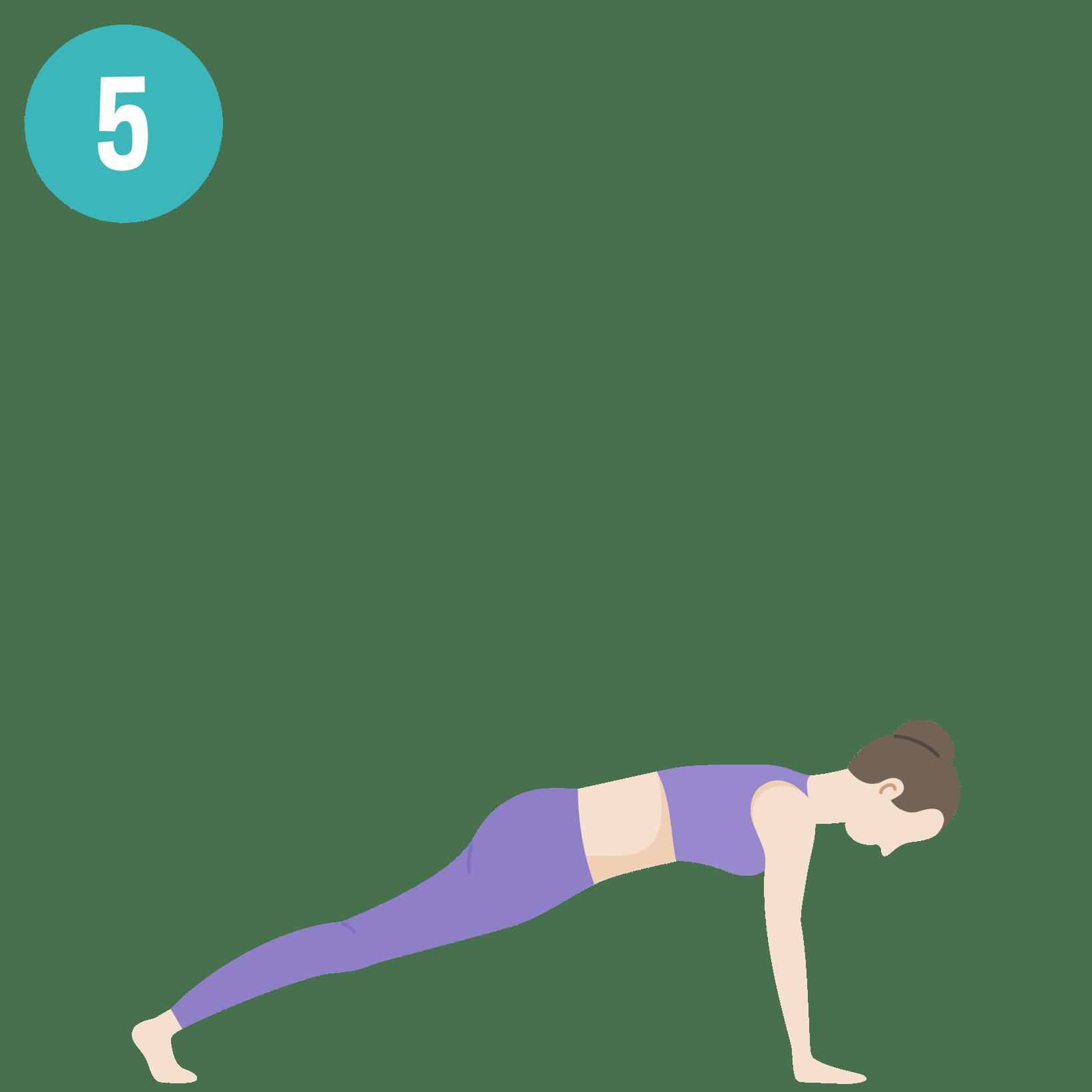 Yoga - Salutation au soleil - posture 5