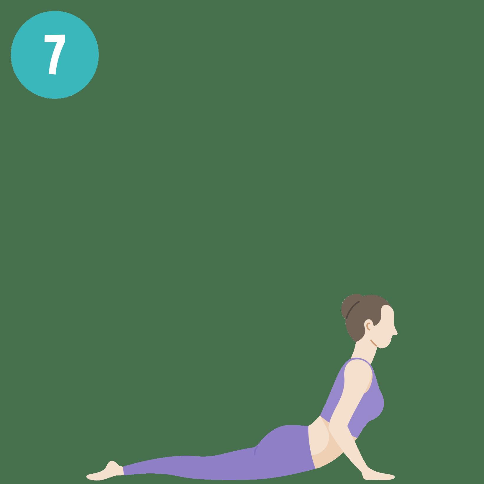 Yoga - Salutation au soleil - posture 7