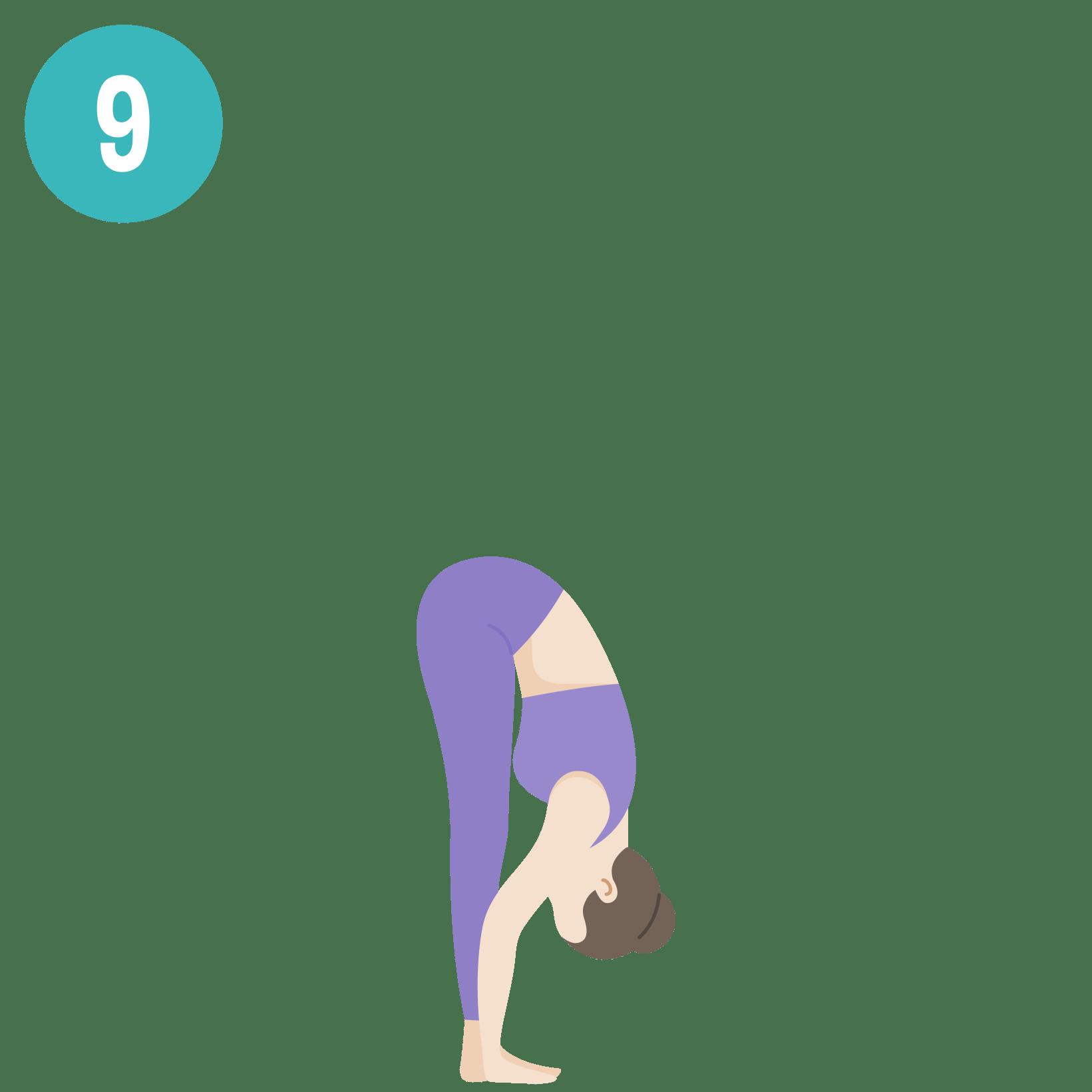 Yoga - Salutation au soleil - posture 9
