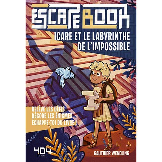Escape Book - Icare et le labyrinthe de l'impossible - Couverture