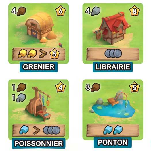 Little Town - Tuiles et mécaniques de jeu