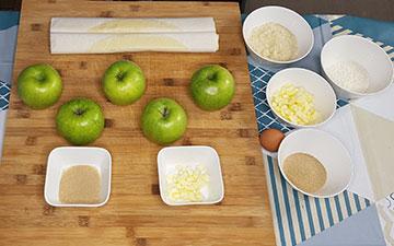 ingredients tourte aux pommes