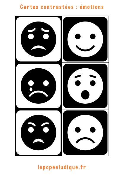 Images contrastées Montessori : émotions