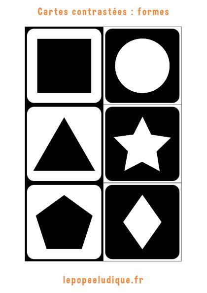 Images contrastées Montessori : formes