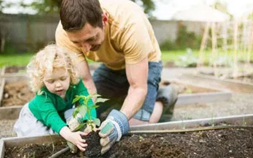 temps qualite famille noyau jardin